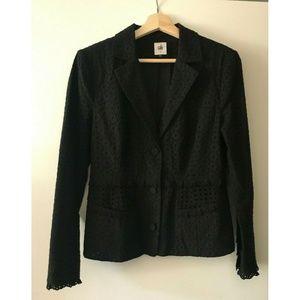 CAbi Flamenco Black Eyelet Jacket #5293 Size 4